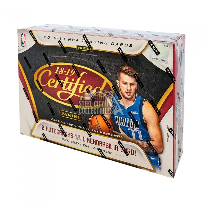 2018-19 Panini Certified Basketball Hobby Box Autographs and Signed Memorabilia