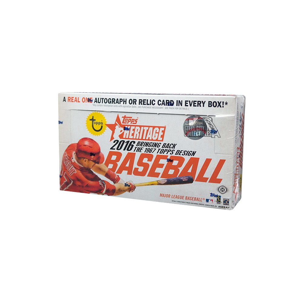 2016 Topps Heritage Baseball Hobby 12 Box Case Steel City Collectibles