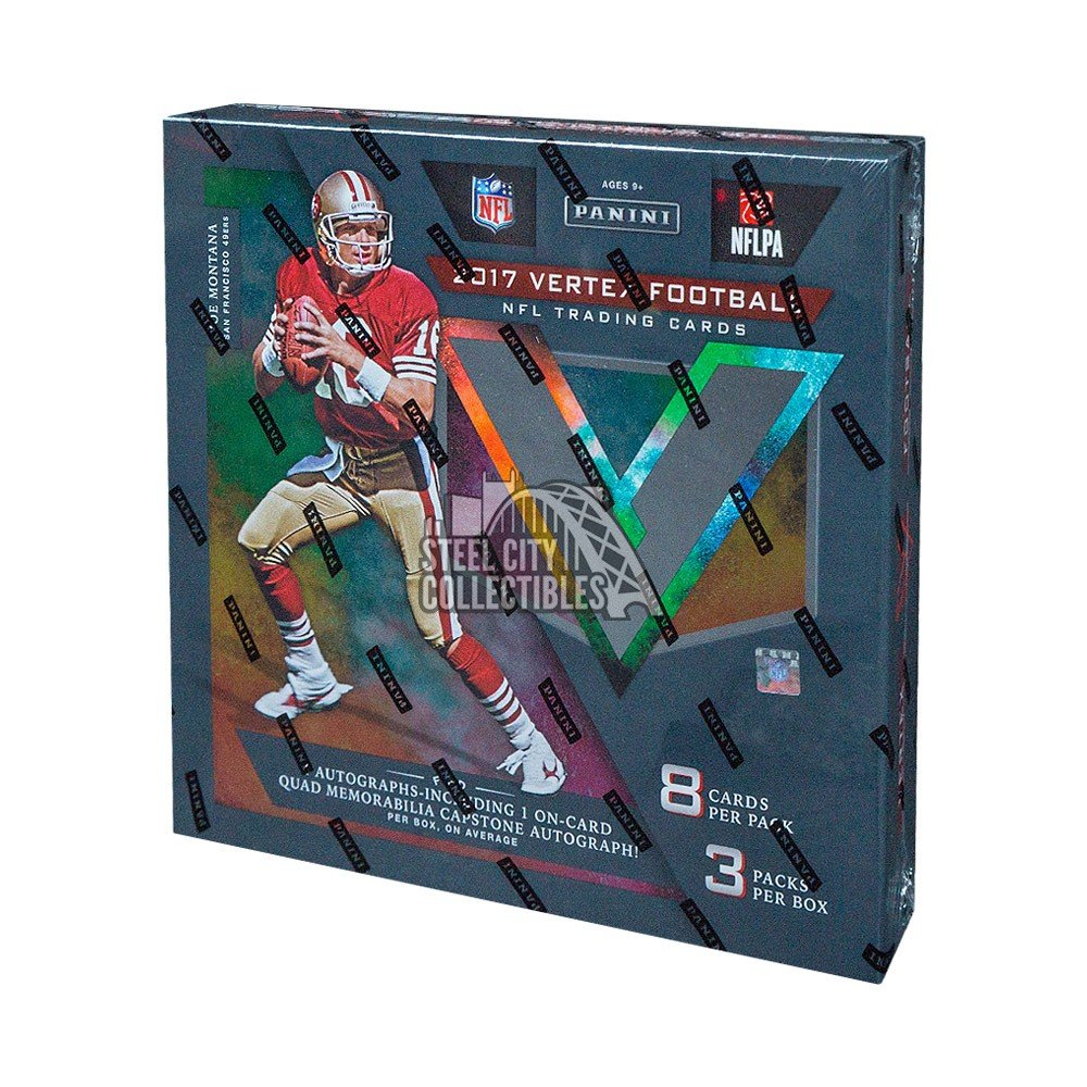 2017 Panini Vertex Football Hobby Box Steel City Collectibles