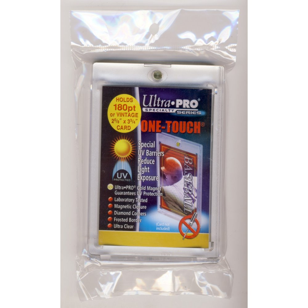 ULTRA PRO ONE-TOUCH 180PT UV PROTECTED CARD HOLDER LOT OF 4