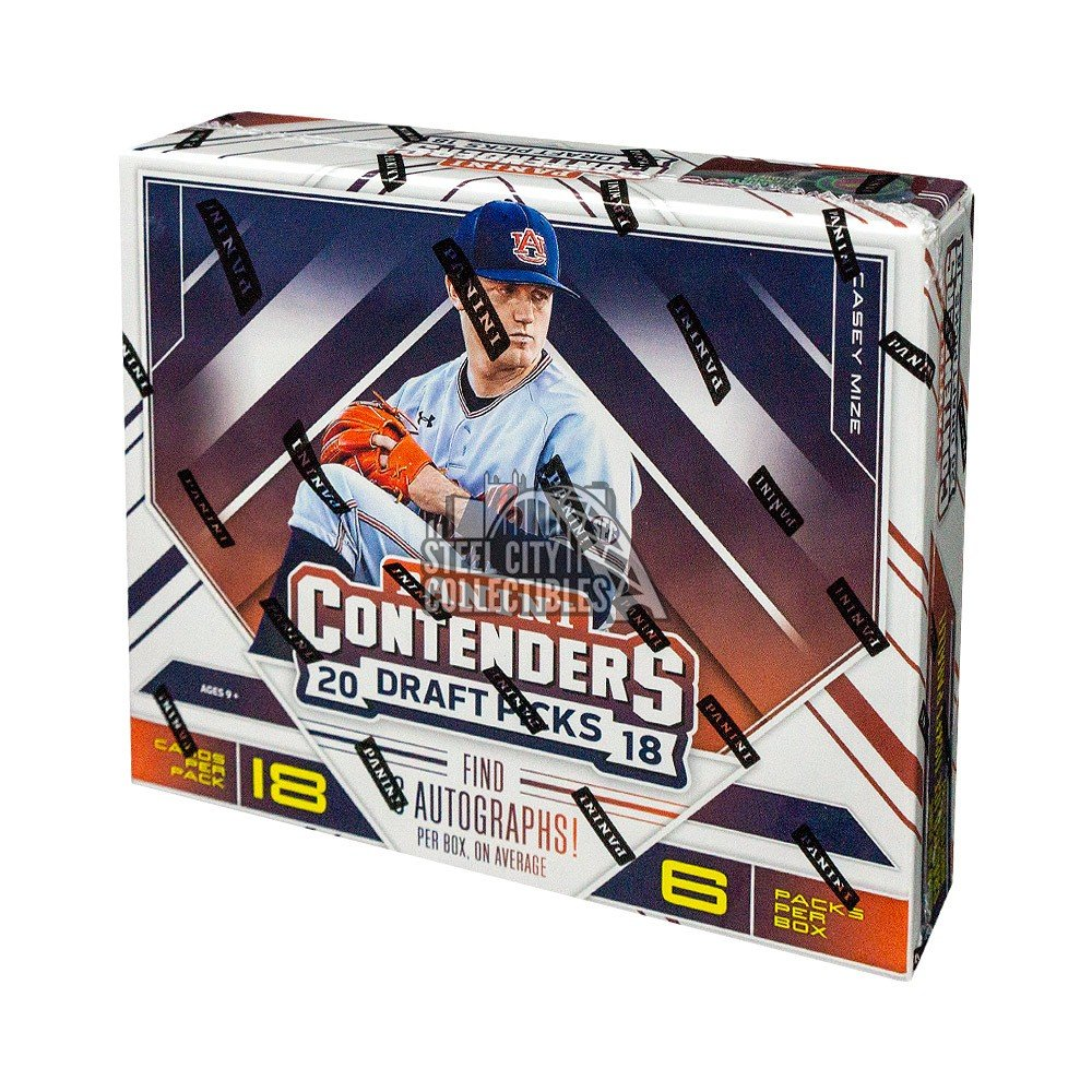 2018 Panini Contenders Draft Picks Collegiate Baseball Hobby Box Autographs and Signed Memorabilia