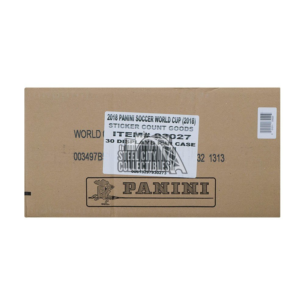 b5c62e249 2018 Panini Fifa World Cup Russia 50ct Sticker 30-Box Case with 30 Albums |  Steel City Collectibles