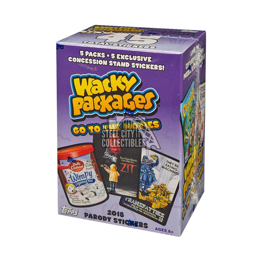2018 Topps Wacky Packages Go To The Movies 6ct Blaster Box