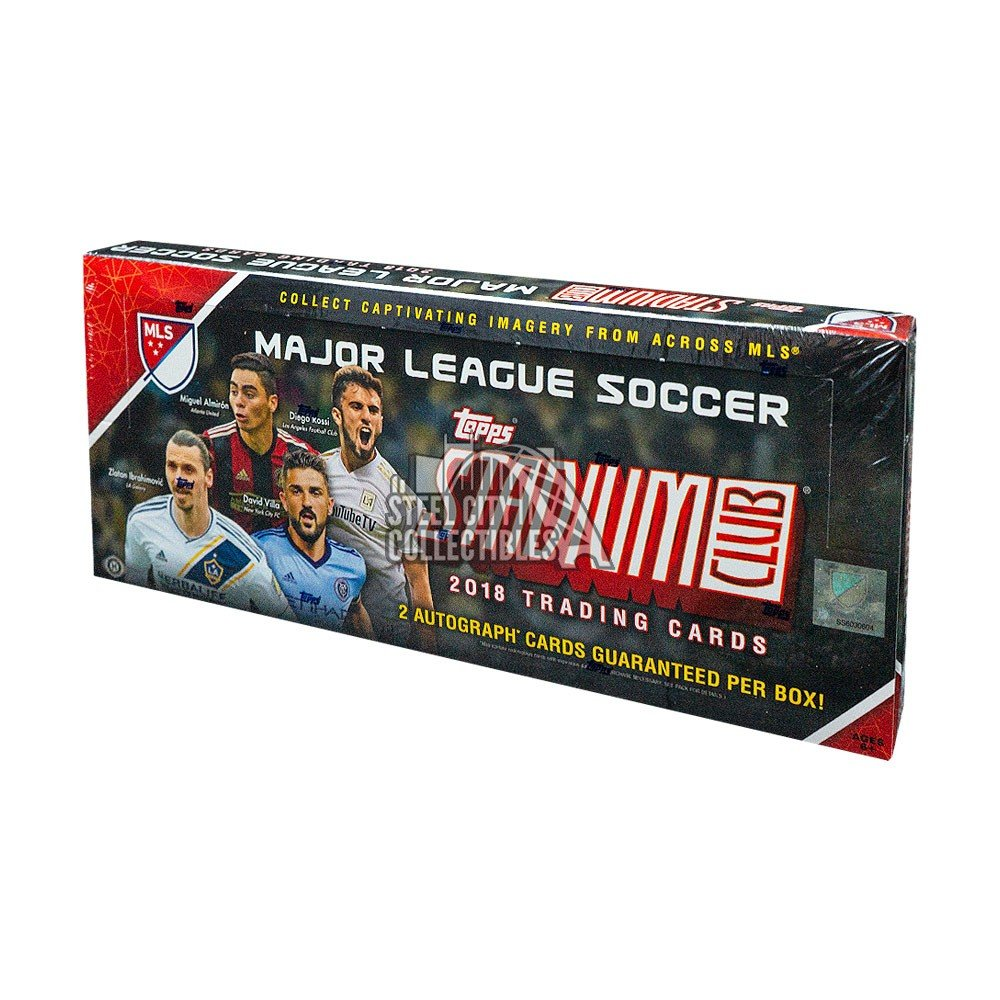 2018 Topps Stadium Club Mls Soccer Hobby Box Steel City Collectibles