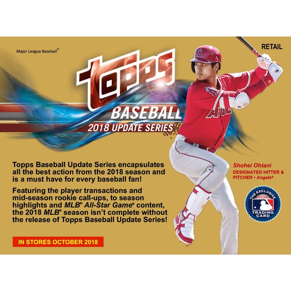 2018 Topps Update Baseball 10ct Blaster Box