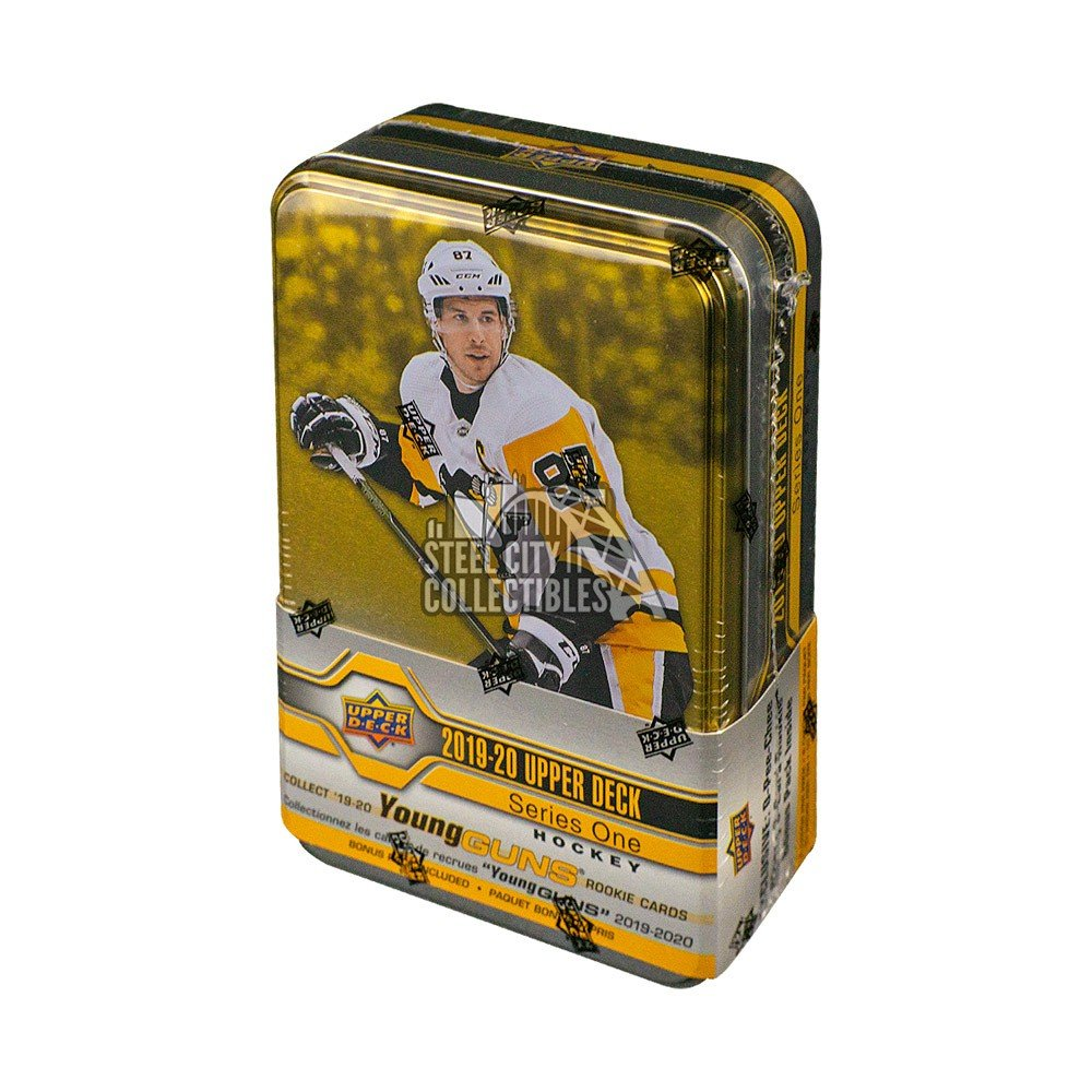 Hockey Wax Packs 2019-20 Upper Deck Series 1 Hockey Factory Sealed 12 Pack Tin