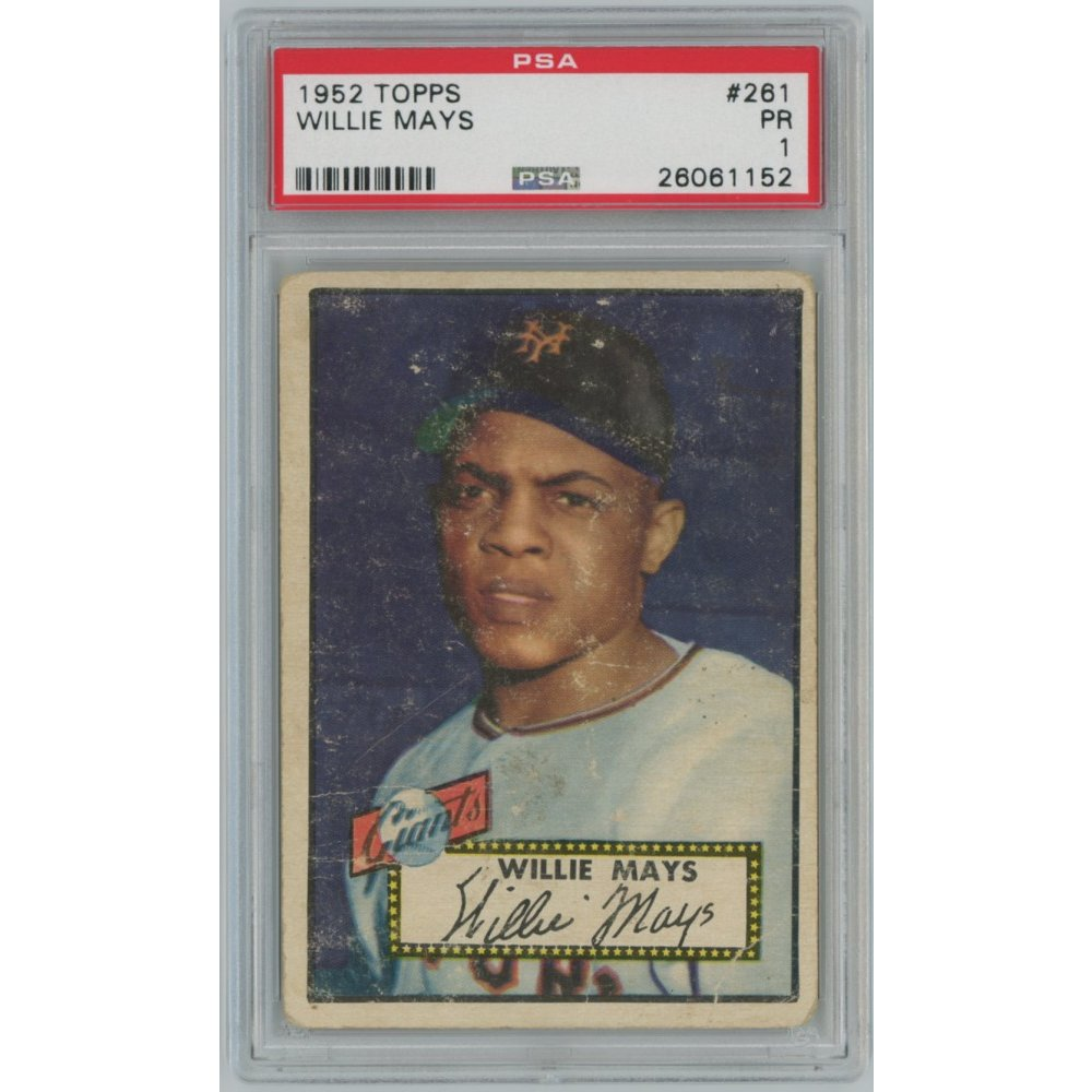 Willie Mays 1952 Topps Baseball Card 261 Psa Graded Poor 1