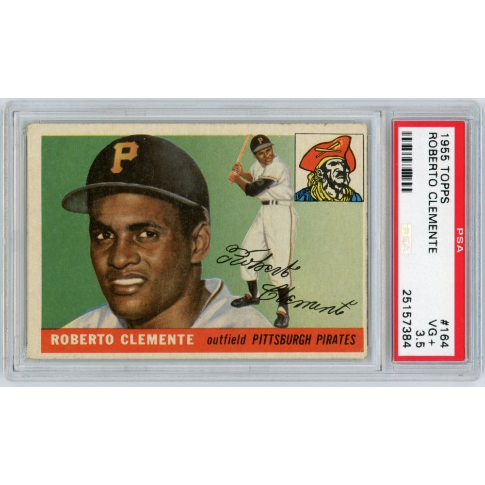 Roberto Clemente 1955 Topps Baseball Rookie Card 164 Psa Graded Vg 35