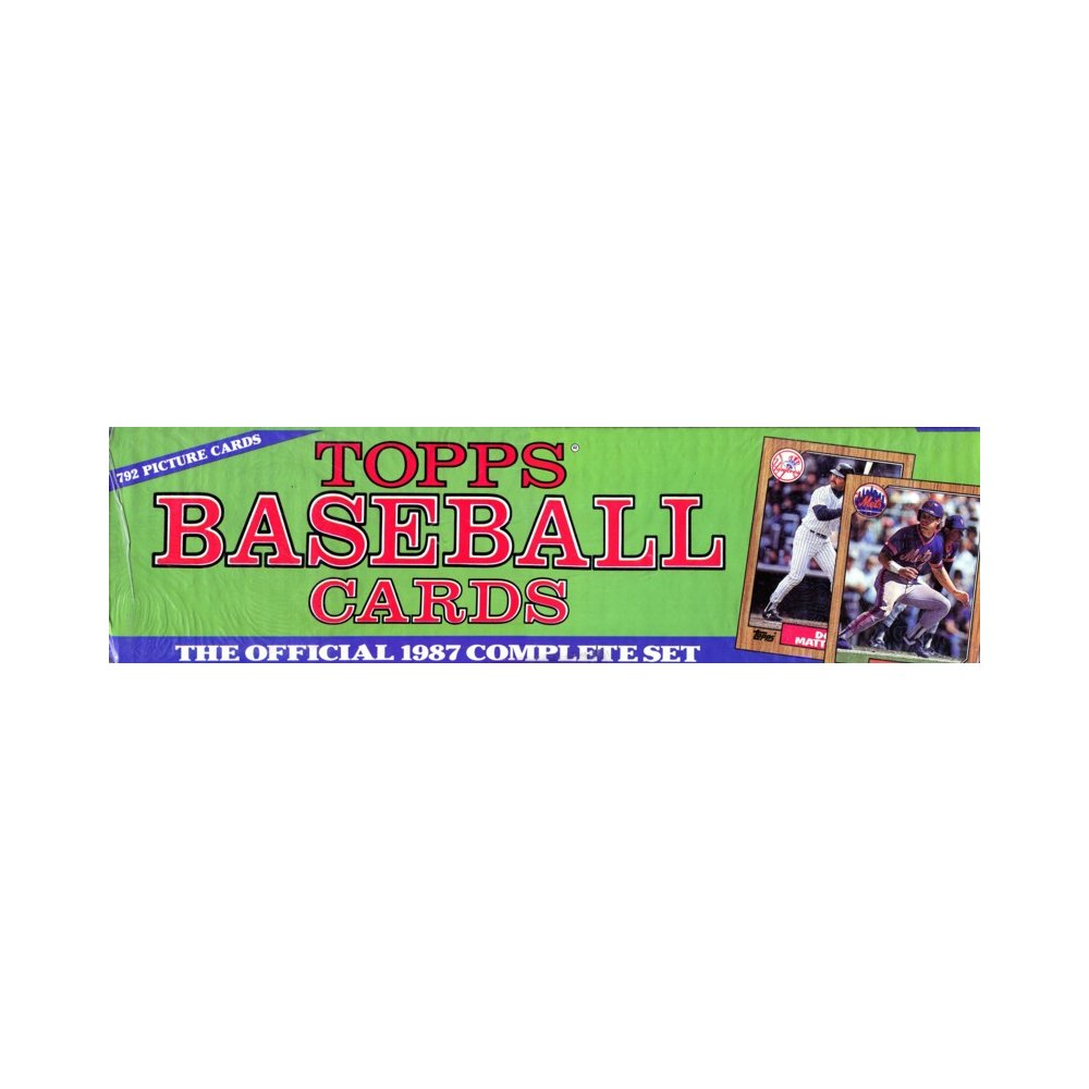 1987 Topps Baseball Factory Set Steel City Collectibles