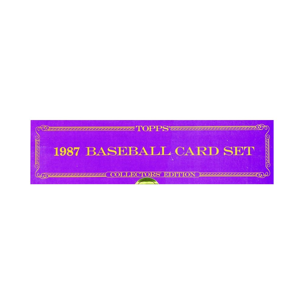 1987 Topps Tiffany Baseball Factory Set Steel City Collectibles