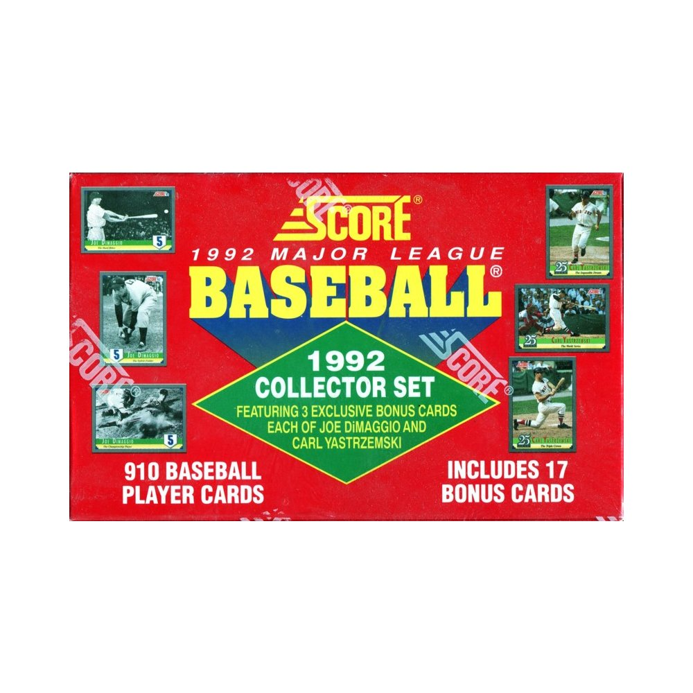 1992 Score Baseball Factory Set Red Version Steel City Collectibles