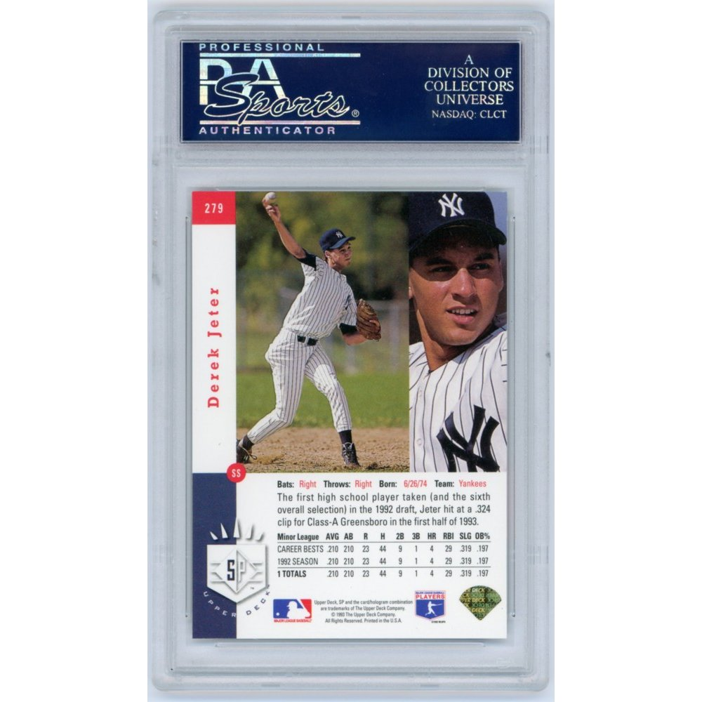 Derek Jeter 1993 Sp Baseball Foil Rookie Card 279 Psa