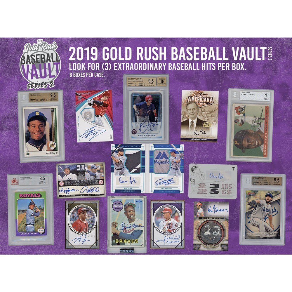 2019 Gold Rush Baseball Vault Series 2 Box