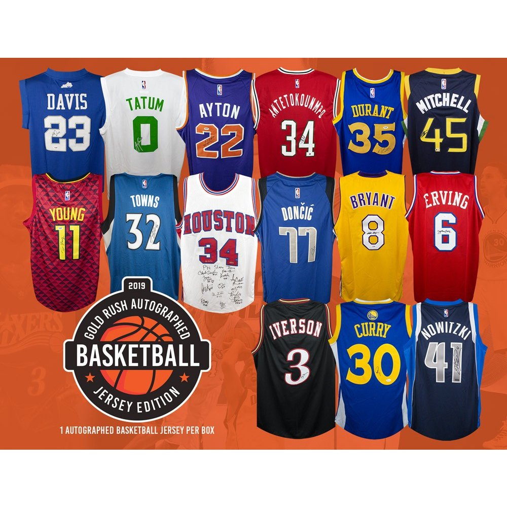 edc57e5b905 2019 Gold Rush Autographed Basketball Jersey Edition Box | Steel City  Collectibles