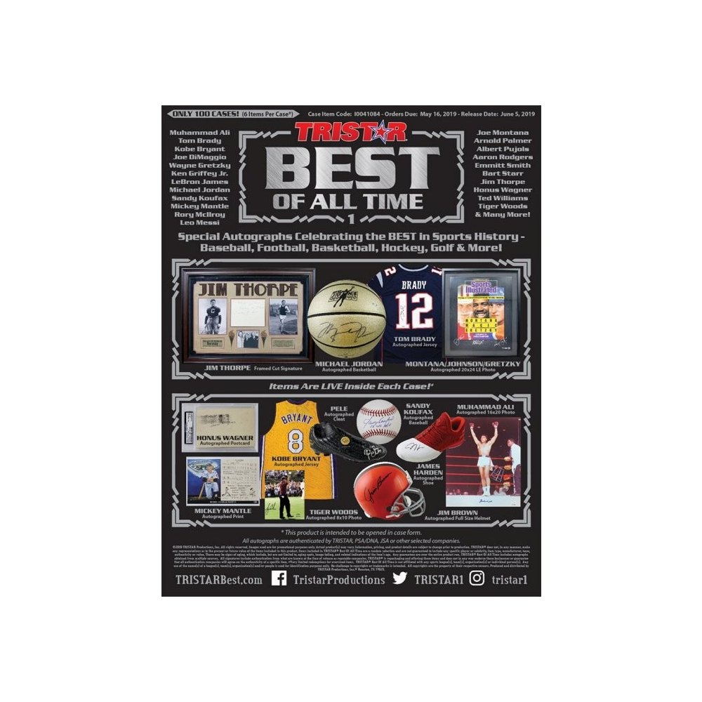 2019 Tristar Best of All Time Case Hit Draft Style Group