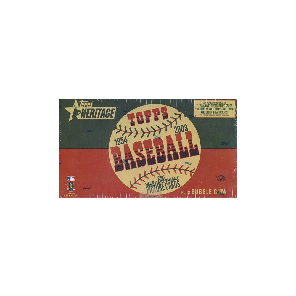 2003 Topps Heritage Baseball Hobby Box Steel City Collectibles
