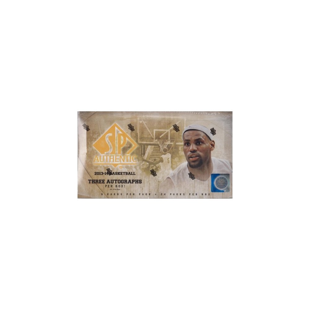4c19a63f6 2013-14 Upper Deck SP Authentic Basketball Hobby Box