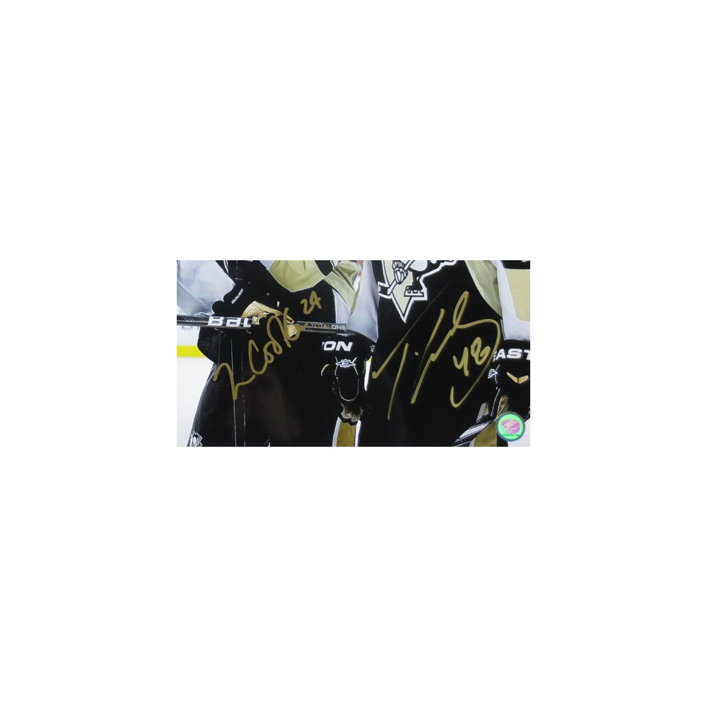 buy popular 6b31f 3ff4d Matt Cooke and Tyler Kennedy Autographed Pittsburgh Penguins ...