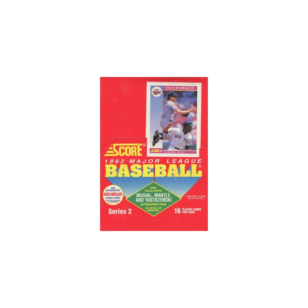 1992 Score Series 2 Baseball Hobby Box Steel City Collectibles