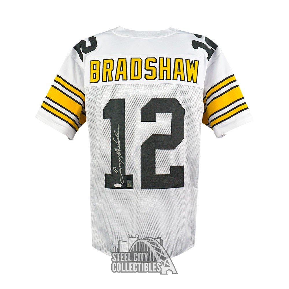 92ad306b1 Terry Bradshaw Autographed Pittsburgh Steelers White Custom ...