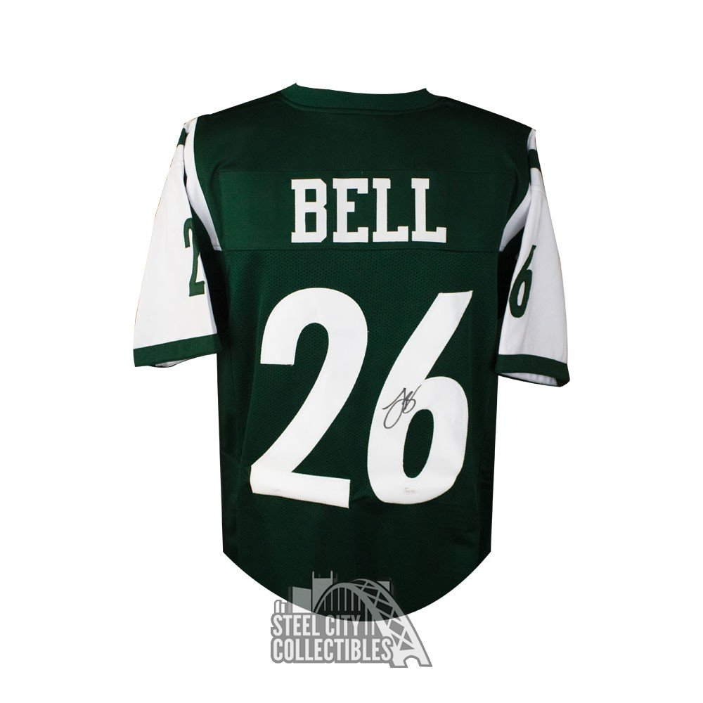 huge discount 4284d c2bd8 Le'Veon Bell Autographed New York Jets Custom Green Football Jersey - JSA  COA (B)