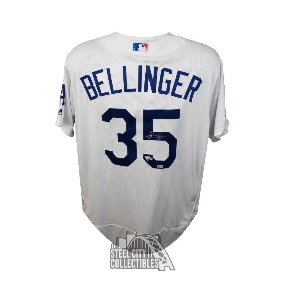 newest 0a538 eb65b Cody Bellinger Autographed Los Angeles Dodgers White Authentic Majestic  Baseball Jersey - Fanatics