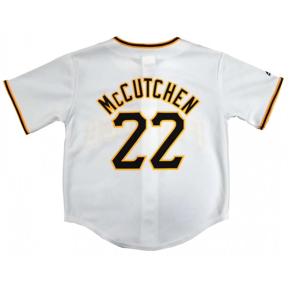 super popular 8f0db 53ae8 Andrew McCutchen Pittsburgh Pirates Majestic MLB Preschool 4-7 Home White  Replica Jersey