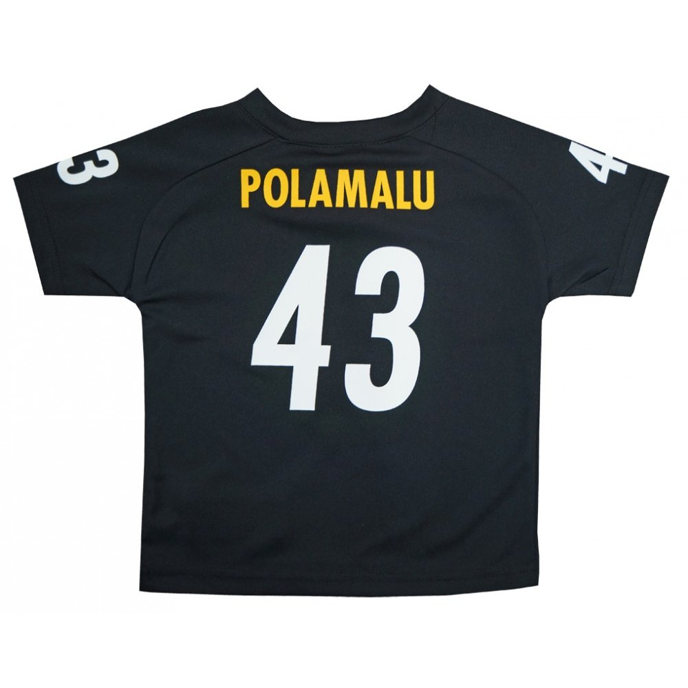 sports shoes ec793 58f60 Troy Polamalu Pittsburgh Steelers NFL Toddler Black Replica Jersey
