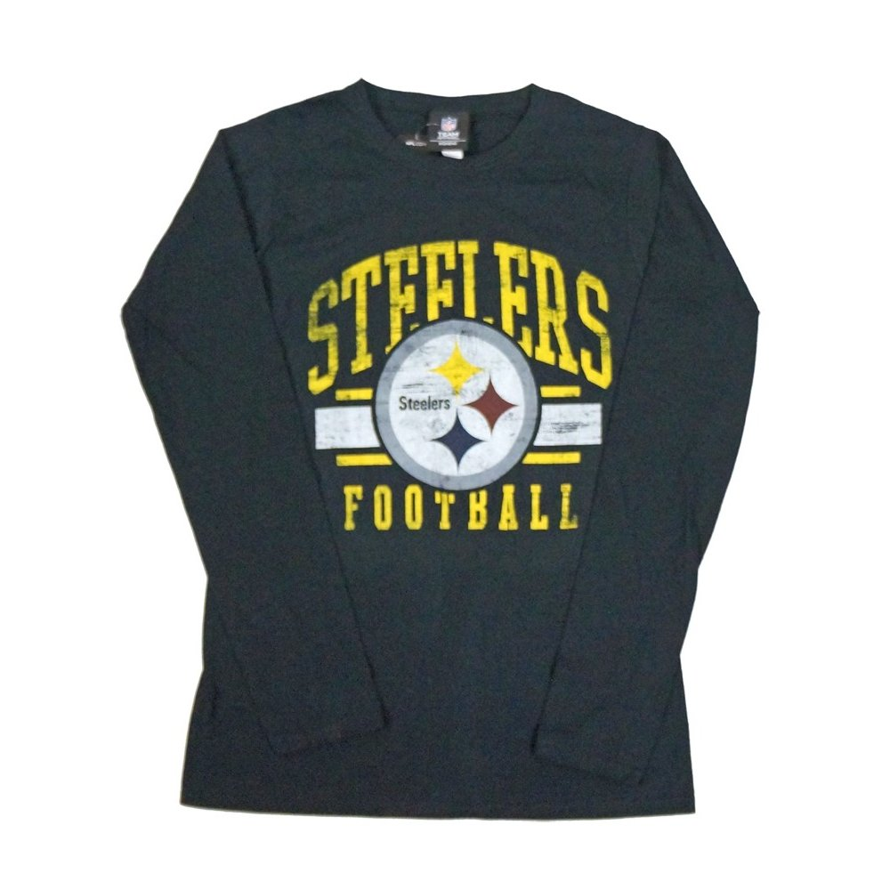 Pittsburgh Steelers NFL Women s Game Day Black Long Sleeve T-Shirt d67c324c29