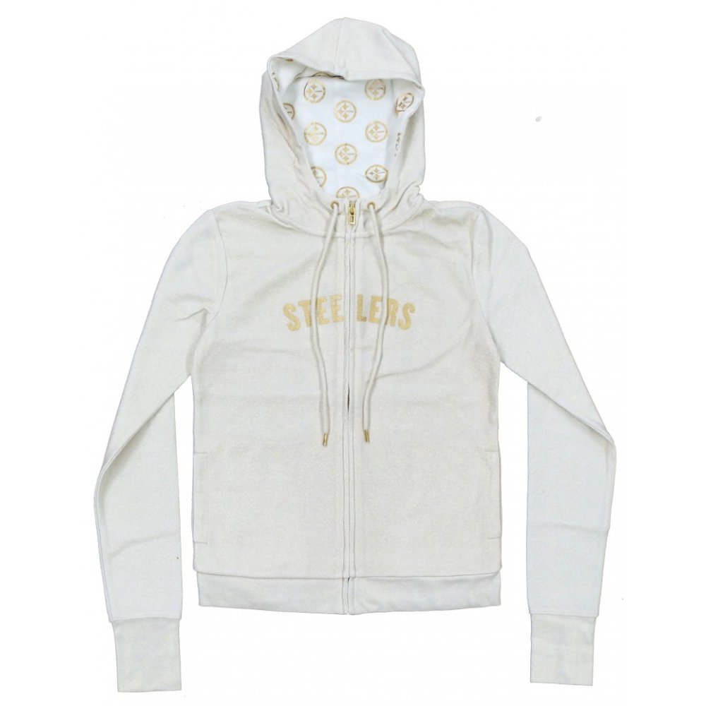 finest selection 72864 ef5d3 Pittsburgh Steelers All Sport Couture NFL Women's Play Action Full-Zip  Hoodie Sweatshirt