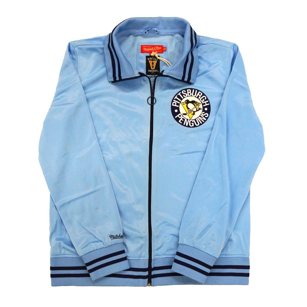 online store d91f3 cb8e3 Pittsburgh Penguins Mitchell   Ness NHL Women s Cross Check Track Jacket    Steel City Collectibles