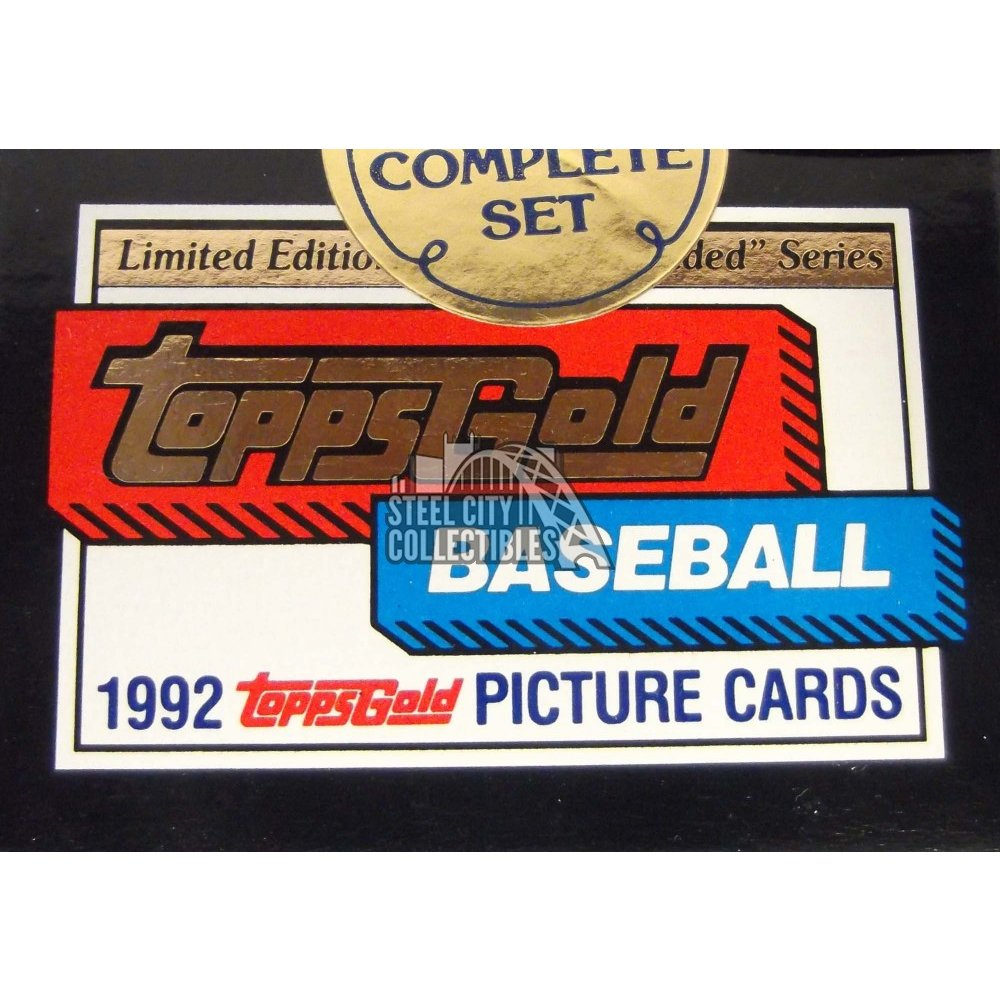 1992 Topps Gold Traded Baseball Box Set Steel City Collectibles