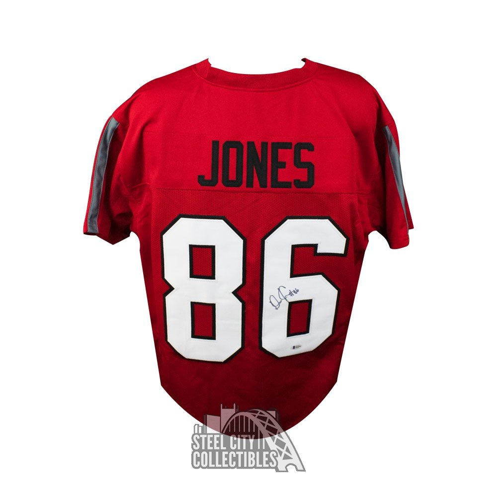 low priced 97c72 2ade7 Dre'Mont Jones Autographed Ohio State Custom Throwback Football Jersey -  BAS COA