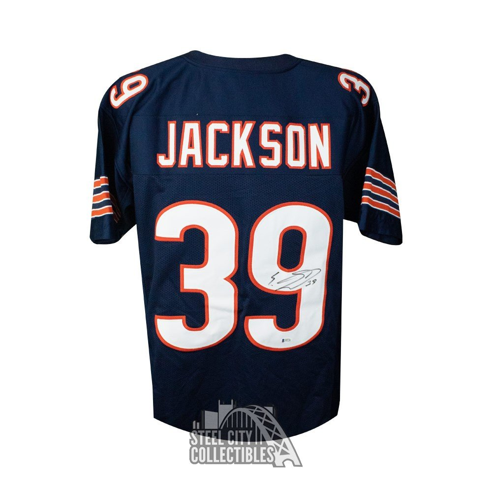 the latest 4ba37 7f52c Eddie Jackson Autographed Chicago Bears Custom Football Jersey - BAS COA