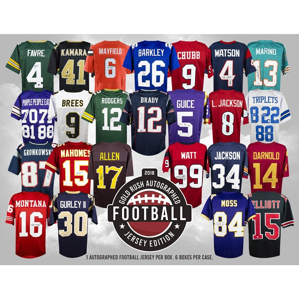 new arrival 2883e 6ca40 2018 Gold Rush Autographed Football Jersey Edition Box