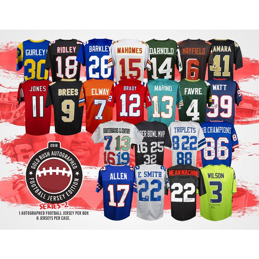 cfa3acac1 2018 Gold Rush Autographed Football Jersey Edition Series 2 Box ...