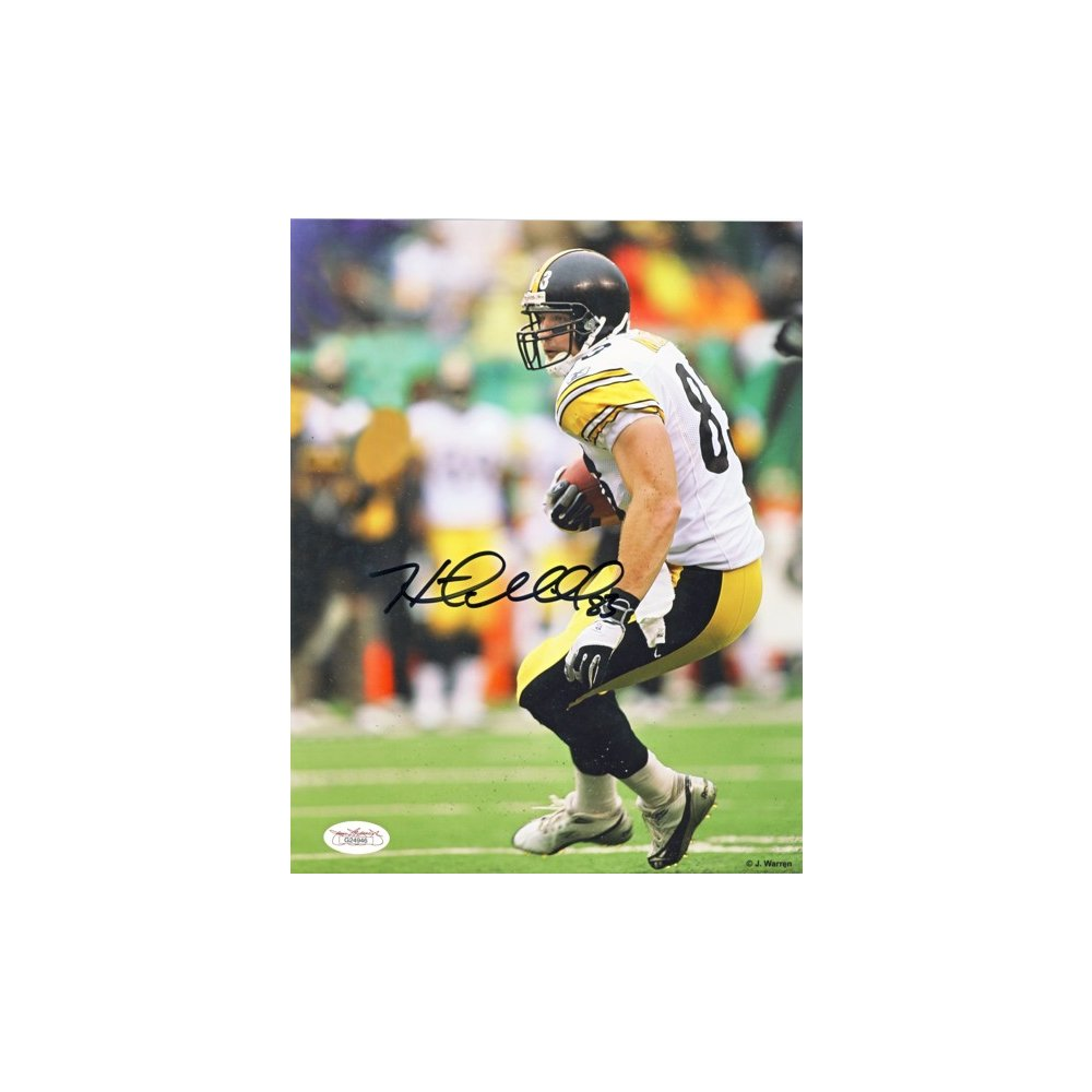 284345ee6c9 Heath Miller Autographed Pittsburgh Steelers 8x10 Photo (White Running) -  JSA COA | Steel City Collectibles