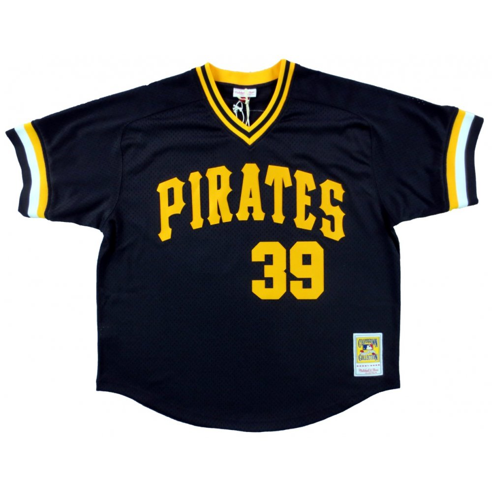 9cea6c604 ... closeout dave parker autographed pittsburgh pirates black mitchell ness  vintage jersey mlb hologram 05787 f2400