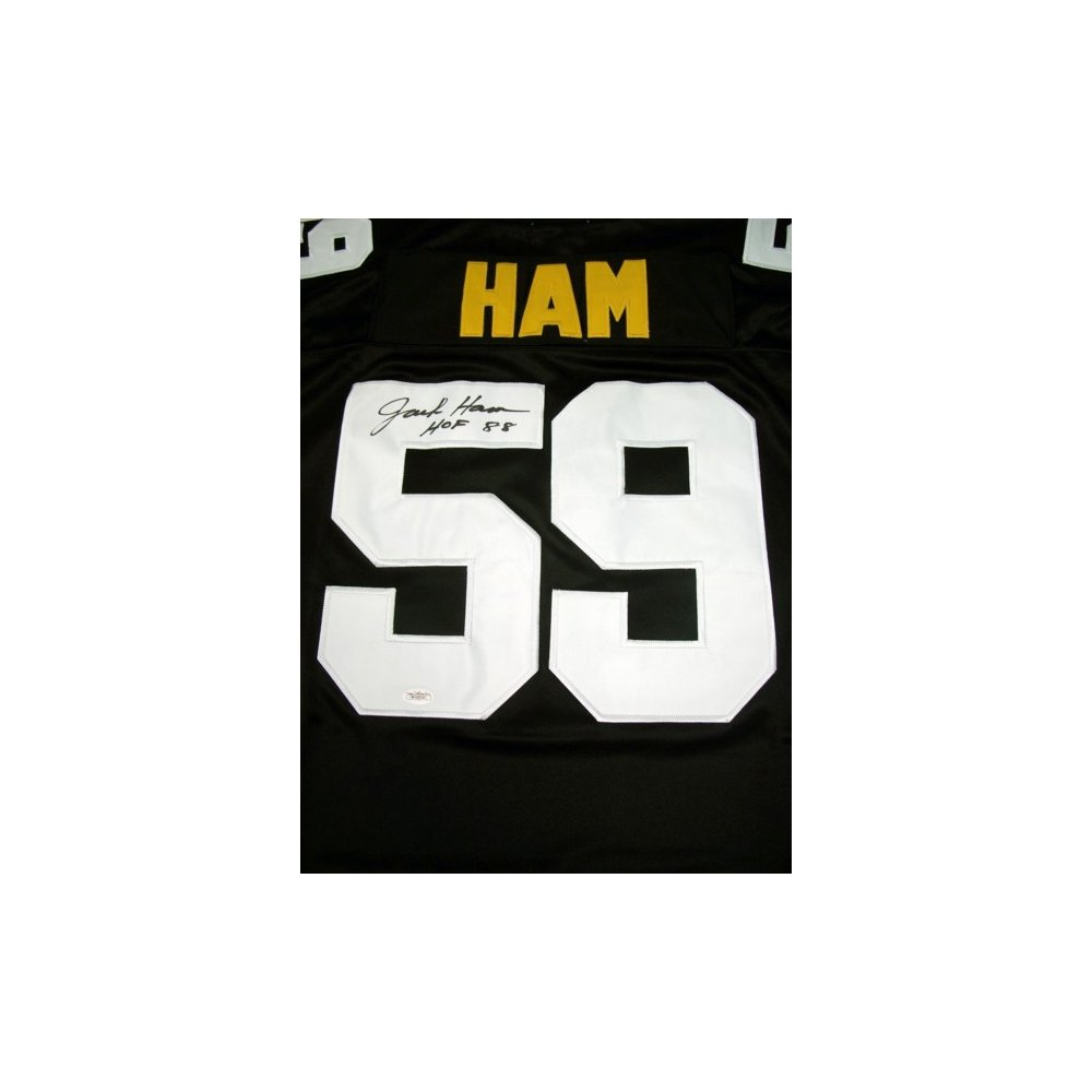 f4b7ab85b1c Jack Ham Autographed Pittsburgh Steelers Home Black Mitchell   Ness Jersey  - JSA COA