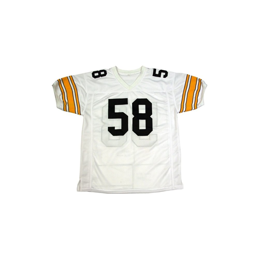 promo code ef18f 5521b Jack Lambert Autographed Pittsburgh Steelers Away White ...