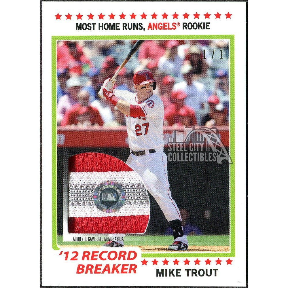 Mike Trout 2019 Topps Transcendent Vip Party Game Used Patch Card 11 Mtyr 78rb