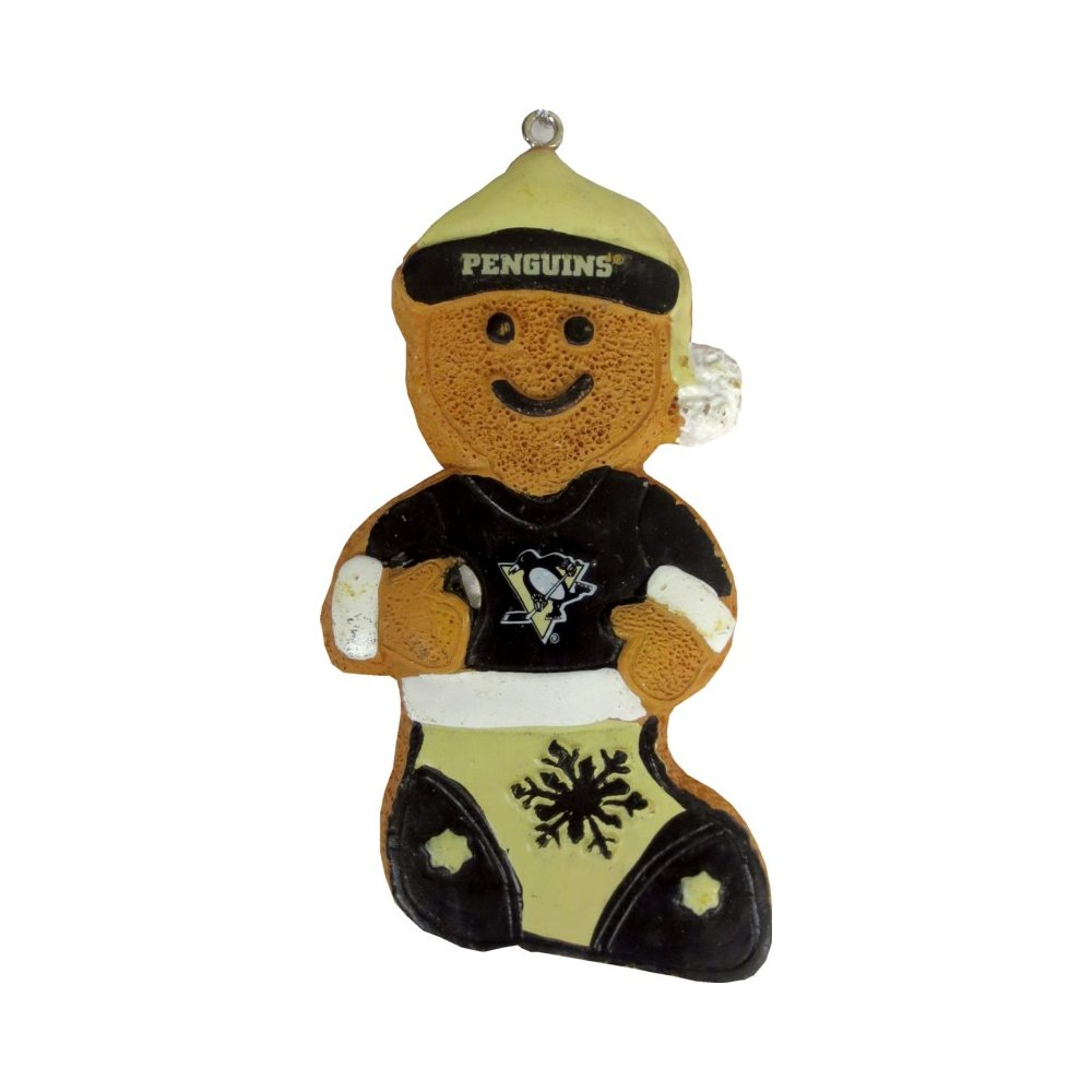Pittsburgh Penguins Gingerbread Man in Stocking Christmas ...