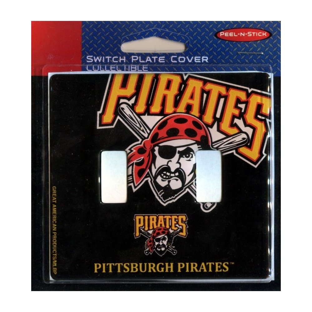 Pittsburgh Pirates MLB Dual Switch Plate Cover