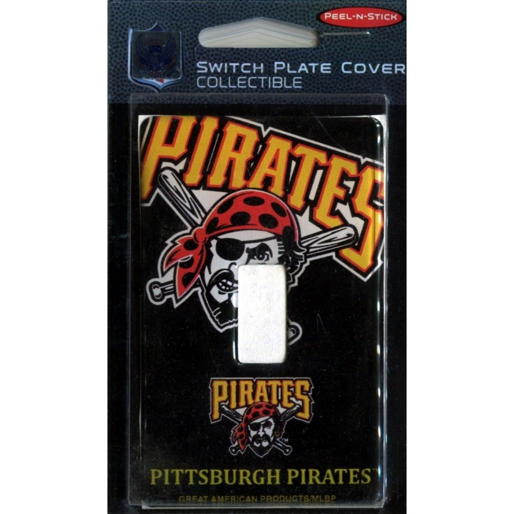 Pittsburgh Pirates MLB Single Switch Plate Cover