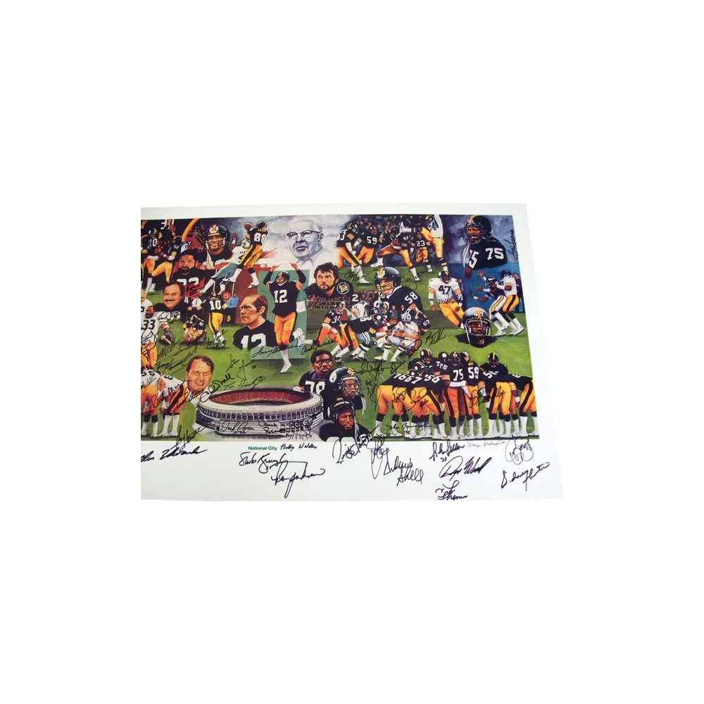 da19a817ac8 Pittsburgh Steelers Team of the Decade 70's Autographed Lithograph - JSA  COA   Steel City Collectibles