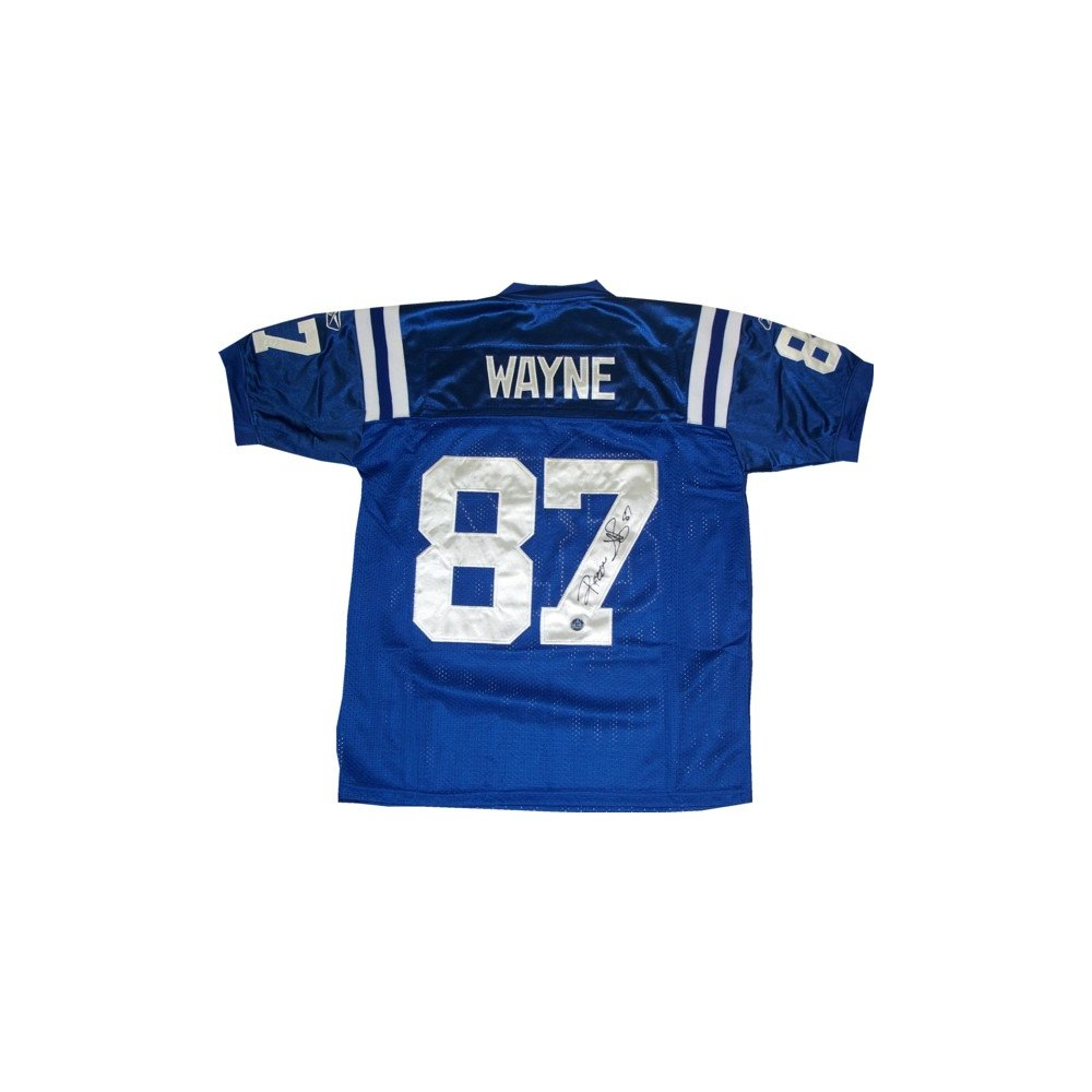 save off 2f47f 7c297 Reggie Wayne Autographed Colts Home Blue Authentic Jersey ...