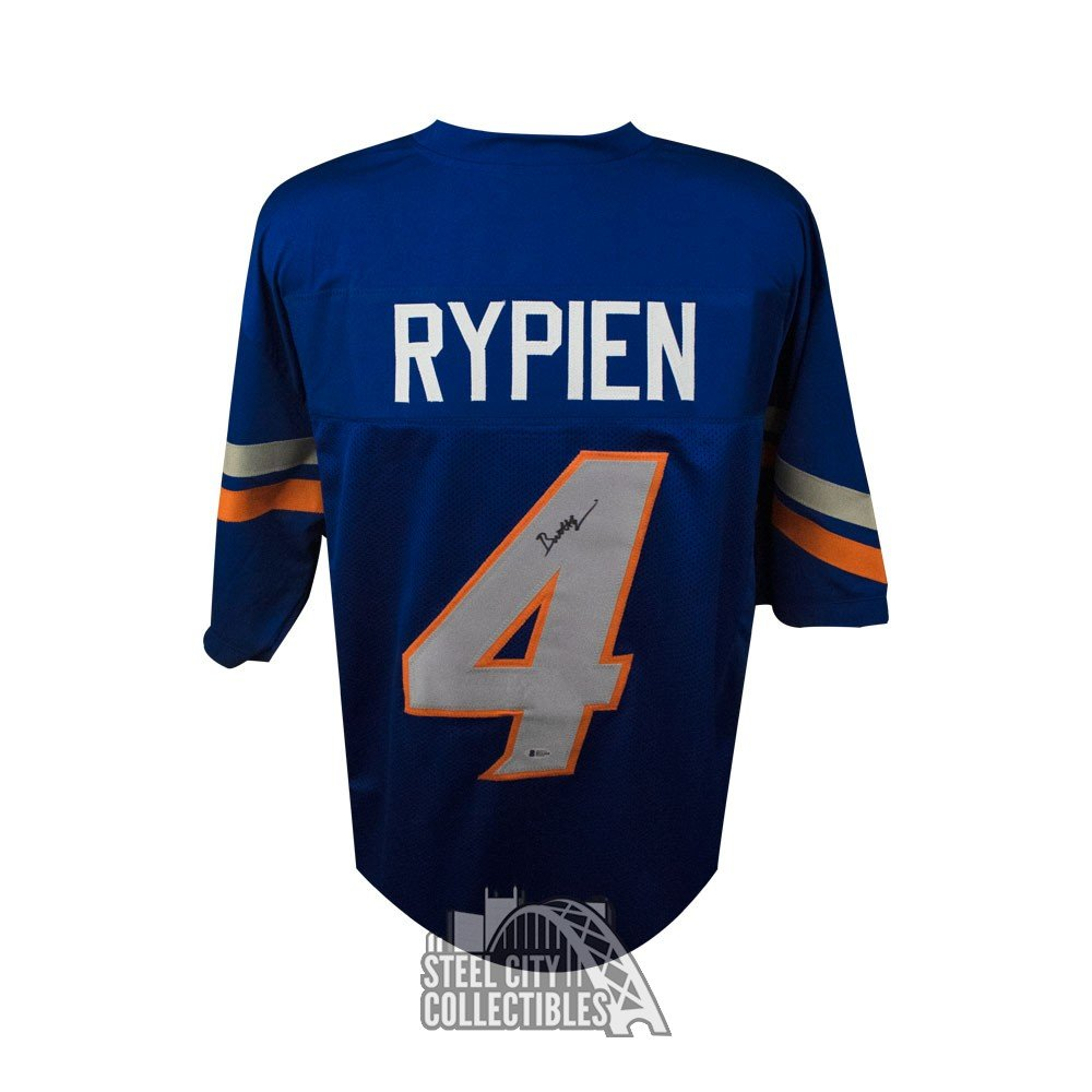 low priced c404a 6a3c4 Brett Rypien Autographed Boise State Custom Blue Football Jersey - BAS COA