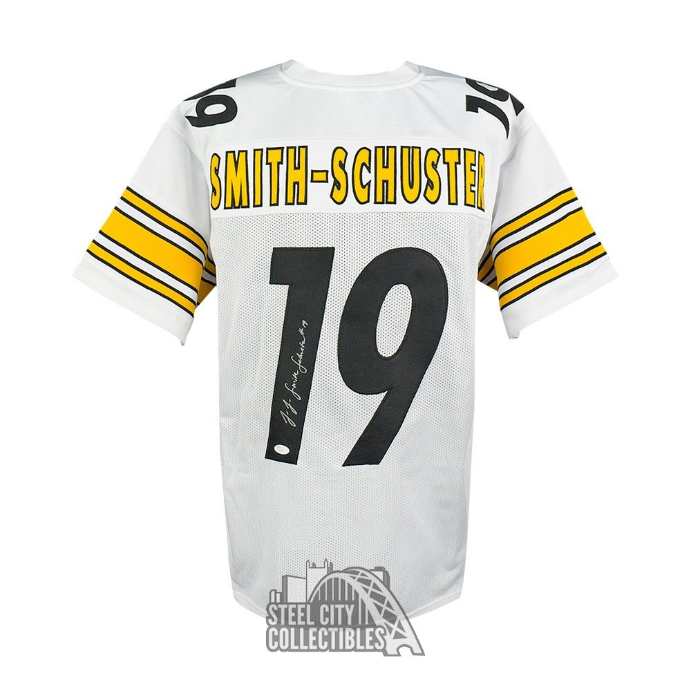 the latest 8f5d3 be6ca JuJu Smith-Schuster Autographed Steelers White Custom Jersey ...