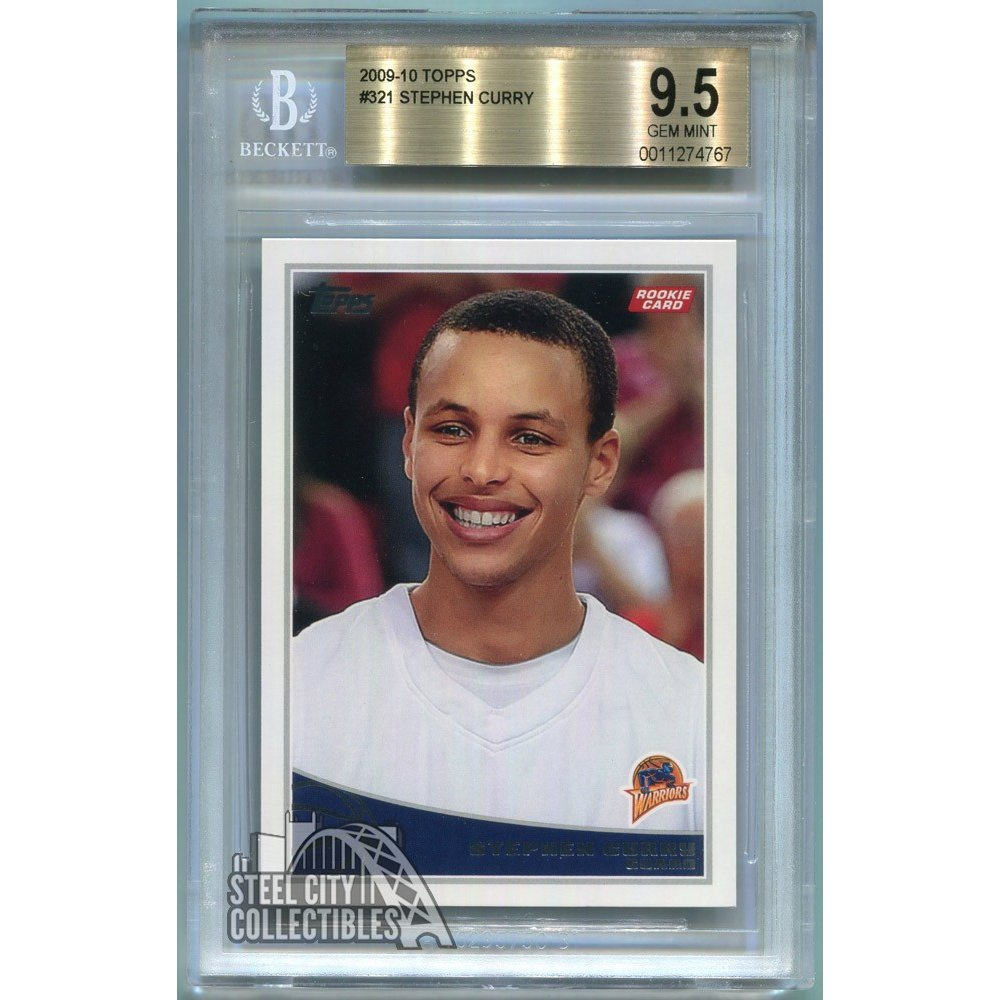 Stephen Curry 2009 10 Topps Basketball Rookie Card Rc 321 Bgs 95 Gem Mint