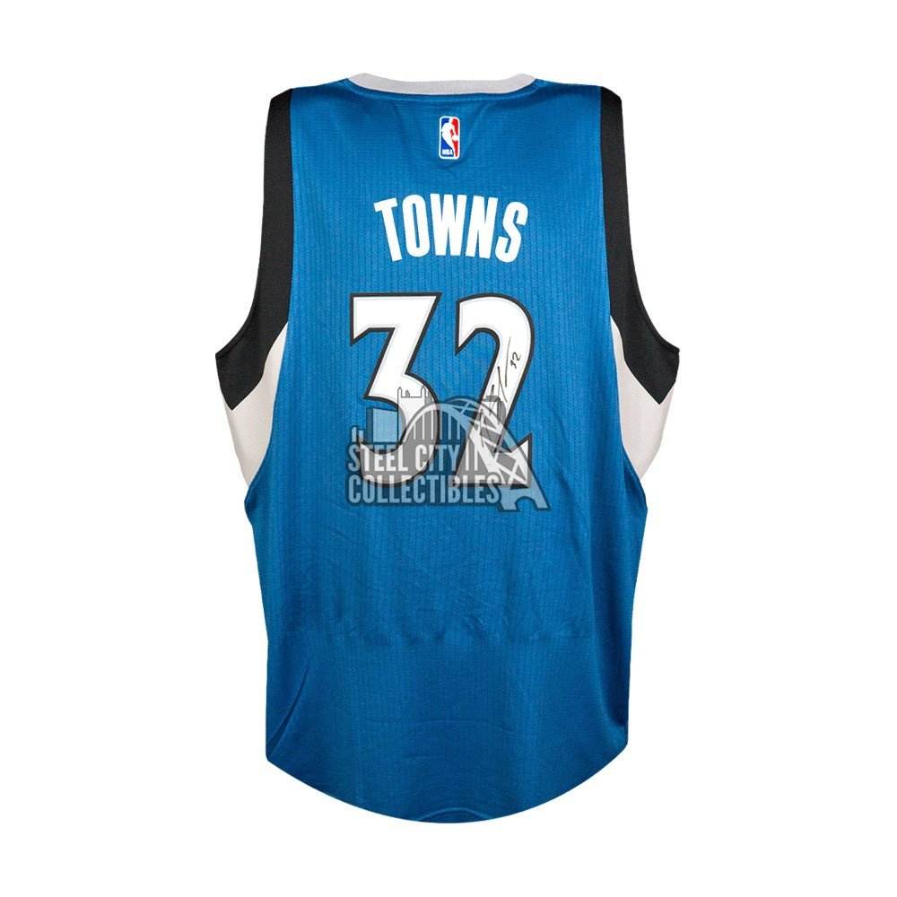 new arrival a946a f06ad official store karl anthony towns signed jersey 4336d 04459